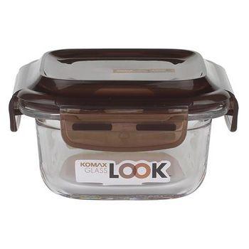 KOMAX 巧克力方形強化玻璃保鮮盒210ml (59070)