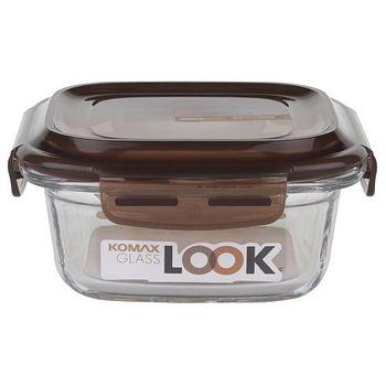 KOMAX 巧克力方形強化玻璃保鮮盒440ml (59071)