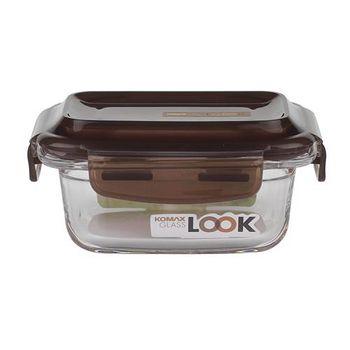 KOMAX 巧克力長形強化玻璃保鮮盒160ml (59073)