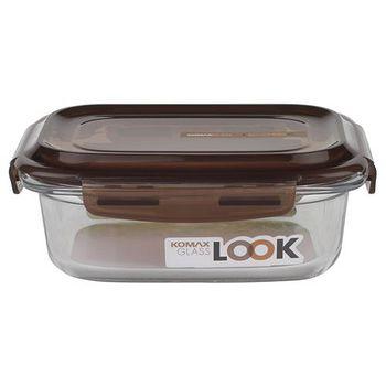 KOMAX 巧克力長形強化玻璃保鮮盒600ml (59075)