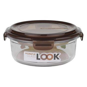 KOMAX 巧克力圓形強化玻璃保鮮盒800ml (59078)