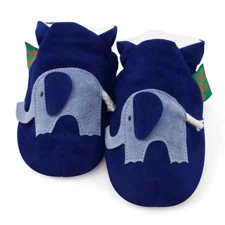 英國 Funky Feet 手工學步鞋 室內鞋 藍色小象 6-24M