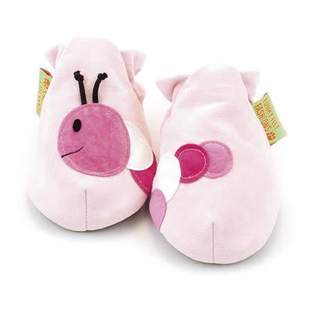 英國 Funky Feet 手工學步鞋 室內鞋 粉紅毛毛蟲 6-24M