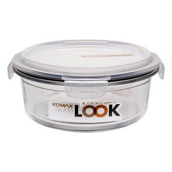 KOMAX 白巧克力圓形強化玻璃保鮮盒800ml (59128)