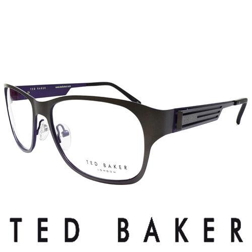 TED BAKER 倫敦玩酷金屬風格 眼鏡  藍  TB4189~913