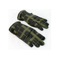 熱感防水手套/墨綠格紋(可加入暖暖包使用)