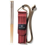 【Snow Peak】 日本製  最新 和武器組合筷子 -方形 M /附收納袋(Carring on Chopsticks M)環保筷 / SCT-110