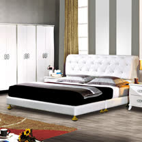 HAPPYHOME 艾蜜麗星鑽5尺雙人床030-1+030-2(床片+床架)