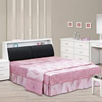 HAPPYHOME 金沙5尺雙人床032-1+015-2(床頭+床底)可選色
