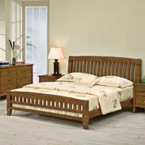 HAPPYHOME 巴比倫黃檀實木5尺雙人床057-1(床頭+床架)