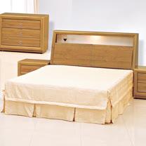 HAPPYHOME 正赤陽木5尺雙人床061-1+061-2(床頭+床底)