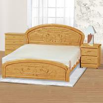 HAPPYHOME 赤陽木床片型5.3尺雙人床063-4(床頭+床架)