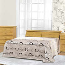 HAPPYHOME 赤陽木6.2尺加大雙人床064-2+061-4(床頭+床底)