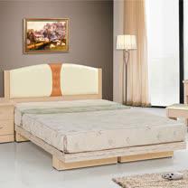 HAPPYHOME 雲頂雙色白橡5尺雙人床081-1+081-2(床頭+床架)