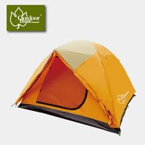 【Outdoorbase】桔野雙前庭六人延伸帳篷 270*270cm.家庭式六人帳篷/21201