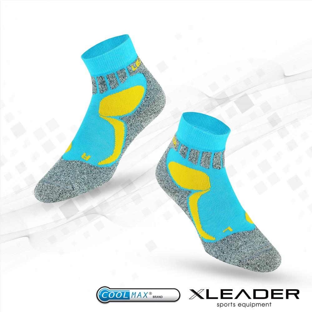 LEADER COOLMAX透氣排汗 戶外健行 中低筒機能 襪  藍色