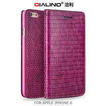 QIALINO APPLE iPhone 6 4.7吋 鱷魚紋系列 插卡側翻皮套