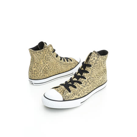 Converse 女鞋 Chuck Taylor AllSTAR麂皮膠底高筒鞋-豹紋-645172C