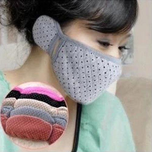 ~PS Mall~ 保暖 口罩耳罩二合一 2入 J398