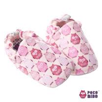 英國 POCONIDO 純手工柔軟嬰兒鞋 (粉紅貓頭鷹)