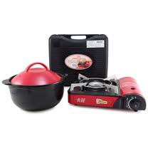 【好料理】養生耐熱鍋3.8L (HL-3800R/B)+【卡旺】111攜帶式卡式爐 (K1-111V)