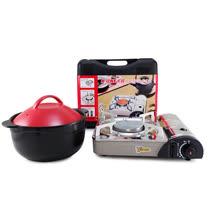 【好料理】養生耐熱鍋3.8L(HL-3800R/B)+【卡旺】遠紅外線瓦斯爐(K1-1200V)