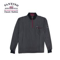【FANTINO】紳士必備.經典線條polo衫(紫) 241331