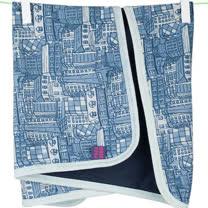 英國 POCONIDO 精梳棉嬰兒毯 (小城市)