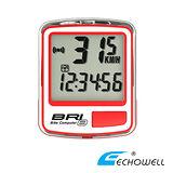 *阿亮單車*ECHOWELL 8功能有線碼表NEW BRI-8(黑、銀、紅、藍四色可選)《B33-576》