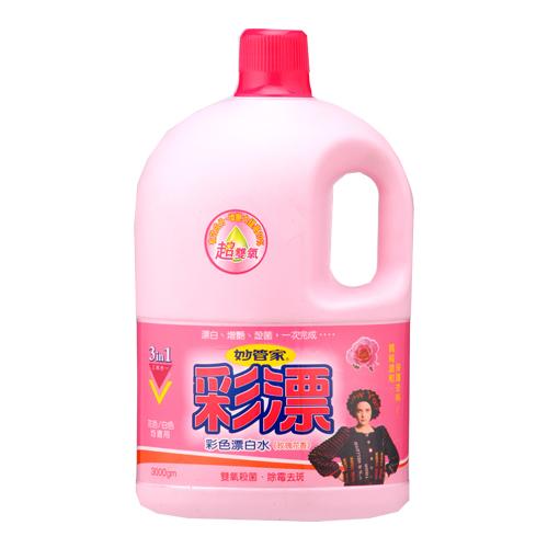 妙管家超雙氧彩色漂白水~玫瑰花香3000g