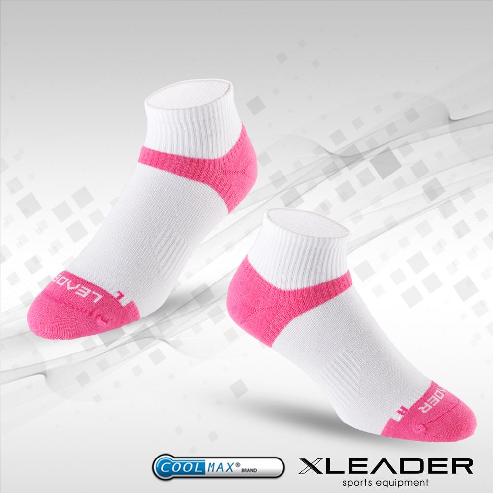 【LEADER】COOLMAX 除臭 女款機能 襪 白桃