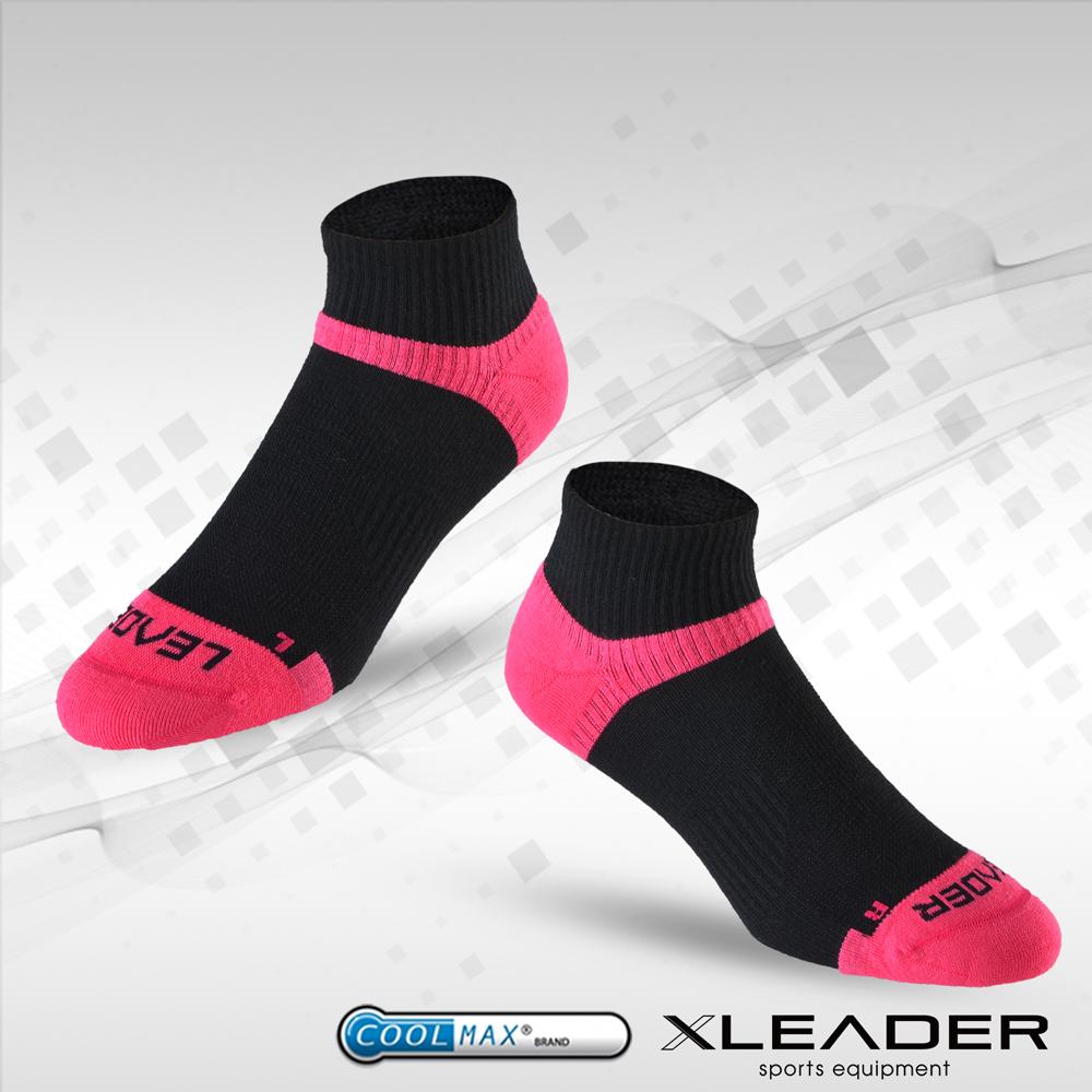 【LEADER】COOLMAX 除臭 女款機能 襪 黑桃