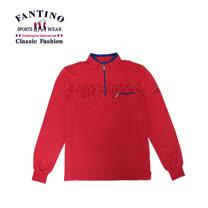 【FANTINO】男裝 搶眼色LOGO字體上衣(桃) 341739