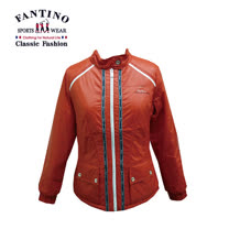 【FANTINO】女裝 保暖修身防風外套 (桃.桔) 385201-385202