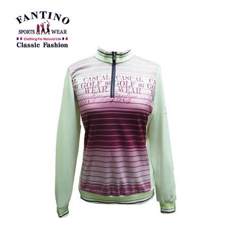 【FANTINO】女裝 搶眼LOGO字體亮面吸濕排汗衫381204