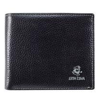 【SINA COVA】老船長荔紋牛皮短皮夾SC31505-1-黑
