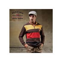 【FANTINO】男裝 線條舒適棉質POLO衫 (灰.咖) 441325-441326