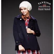 【FANTINO】 女裝 保暖長版羊毛外套 (黑) 485117