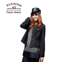 【FANTINO】女裝 時尚豹紋牛仔外套 485301