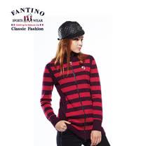 【FANTINO】女裝 修身線條拉鍊式羊毛外套(桃紅.丈青) 487201-487202