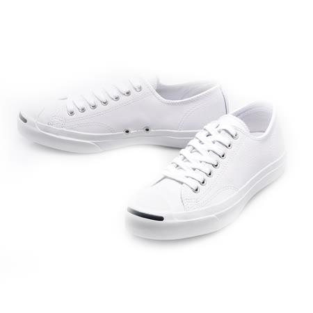 Converse 男/女鞋  開口笑 JACK PURCELL休閒鞋白色荔枝皮革-1S961
