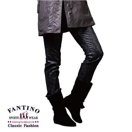 【FANTINO】女裝 特殊蕾絲花紋布彈性休閒棉褲 483301