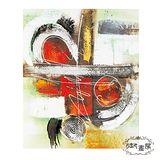 【御畫房】《柳暗花明》 手繪抽象油畫-50*60cm無框掛畫