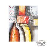【御畫房】《滿面春風》 手繪抽象油畫-40*50cm無框掛畫