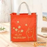【CoolDogs】貓咪萬用提袋 餐袋 收納袋(橘色179-41)