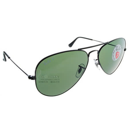 Ray Ban雷朋太陽眼鏡 (黑-綠色)#RB3025 00258-58mm偏光