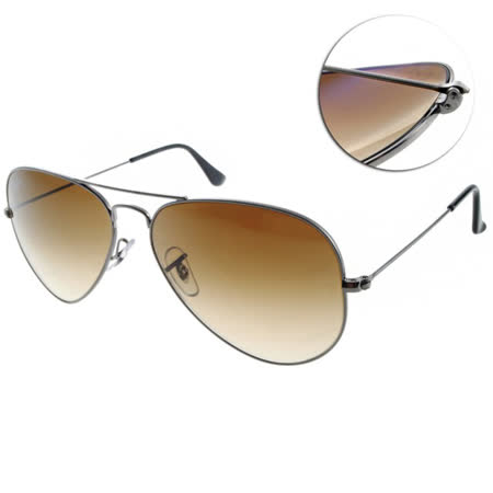 Ray Ban雷朋太陽眼鏡 (槍銀-漸層棕色)#RB3025 00451-58mm