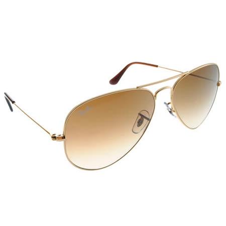 Ray Ban雷朋太陽眼鏡 (金-漸層棕色)#RB3025 00151