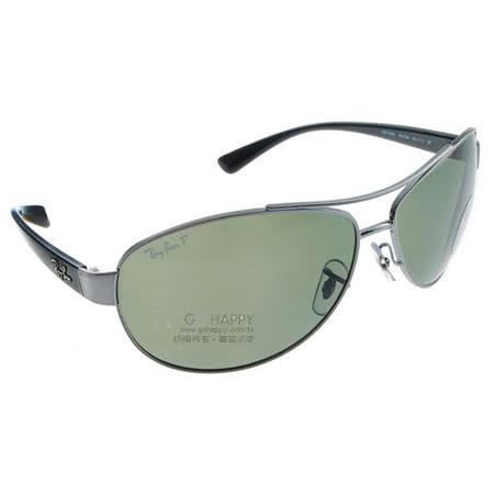 Ray Ban雷朋太陽眼鏡 (槍銀-綠色) #RB3386 0049A偏光