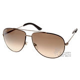 Salvatore Ferragamo太陽眼鏡 (質感金棕-黑 時尚新品) #SF104SL 211